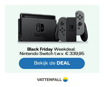 Black Friday Deal: Nintendo Switch cadeau bij 1-jarig energiecontract
