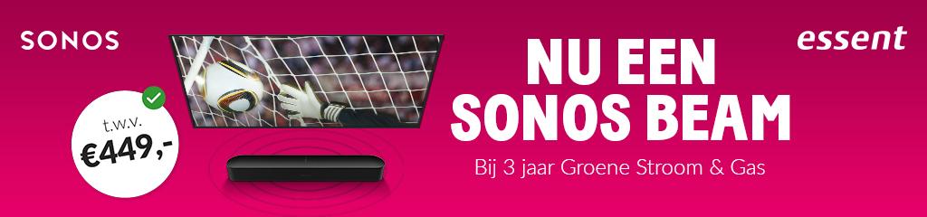 Sonos Beam actie bij Essent t.w.v. 500 euro